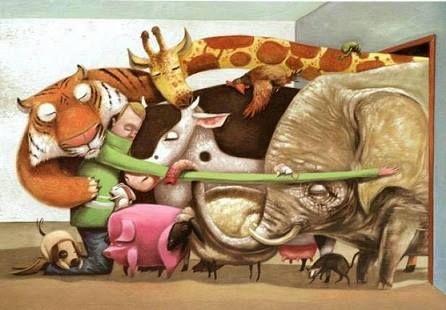 Group Animal Hug